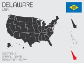Set of Infographic Elements for the State of Delaware — Stock Photo