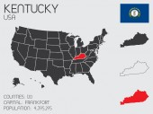 Set of Infographic Elements for the State of Kentucky — Stockfoto