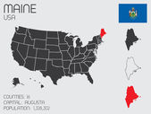 Set of Infographic Elements for the State of Maine — Photo