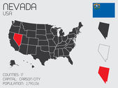 Set of Infographic Elements for the State of Nevada — Stock Photo