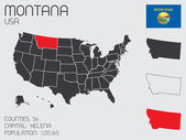 Set of Infographic Elements for the State of Montana — Foto de Stock