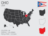 Set of Infographic Elements for the State of Ohio — Stock Photo