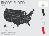 Set of Infographic Elements for the State of Rhode Island — Stock Vector