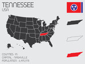 Set of Infographic Elements for the State of Tennessee — Stock Vector