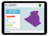 Set of Infographic Elements for the Country of Algeria — Stock Photo