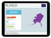 Set of Infographic Elements for the Country of Alaska — Foto de Stock