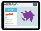 Set of Infographic Elements for the Country of Azerbaijan — Stock Photo