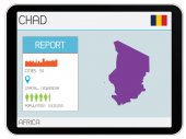 Set of Infographic Elements for the Country of Chad — Stock Photo
