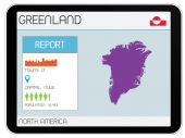 Set of Infographic Elements for the Country of Greenland — Stock Photo