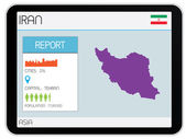 Set of Infographic Elements for the Country of Iran — Stock Photo