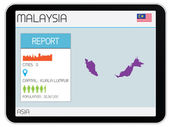 Set of Infographic Elements for the Country of Malaysia — Stock Photo