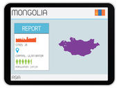 Set of Infographic Elements for the Country of Mongolia — Stock Photo