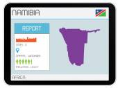 Set of Infographic Elements for the Country of Namibia — Stock Photo
