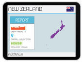 Set of Infographic Elements for the Country of New Zealand — Stock Photo