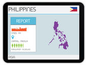 Set of Infographic Elements for the Country of Philippines — Stock Photo