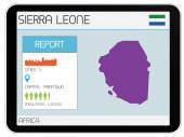 Set of Infographic Elements for the Country of Sierra Leone — Stock Photo