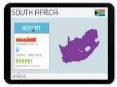 Set of Infographic Elements for the Country of South Africa — Stock Photo