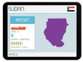 Set of Infographic Elements for the Country of Sudan — Stockfoto