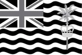 Illustrated grayscale flag of the country of British Indian Ocea — Zdjęcie stockowe
