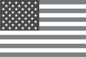 Illustrated grayscale flag of the country of United States of Am — 图库照片