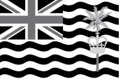 Illustrated grayscale flag of the country of British Indian Ocea — Cтоковый вектор