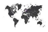 Map of the world with a selected country of Finland — Foto Stock