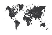 Map of the world with a selected country of Denmark — Stock Photo