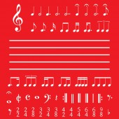 Musical Notes and Numbers — Stock Photo