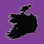 Violet background of Ireland — Vecteur