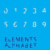 Inividual - Elements Numbers — Stock Photo