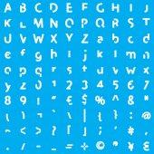 Alphabet Characters - Elements Bold — Stock Photo