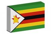 3d Isometrische vlag illustratie van het land van Zimbabwe — Stockfoto