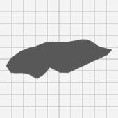 Kvadrerade papper med formen av landet av Bahamas — Stockvektor