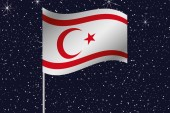 3D Flag Illustration waving in the night sky of the country of — Stock Photo
