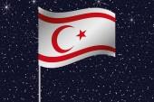 3d-flaggan Illustration viftande på natthimlen i landet där — Stockfoto