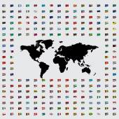 Illustrations of the Flags of the World — Stock Photo