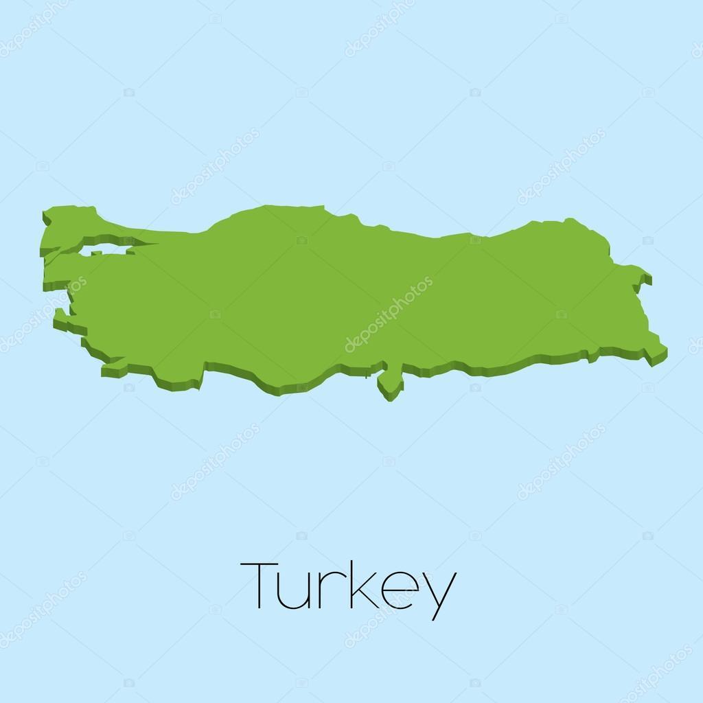 土耳其蓝色的水背景的 3d 地图 — 图库矢量图像08