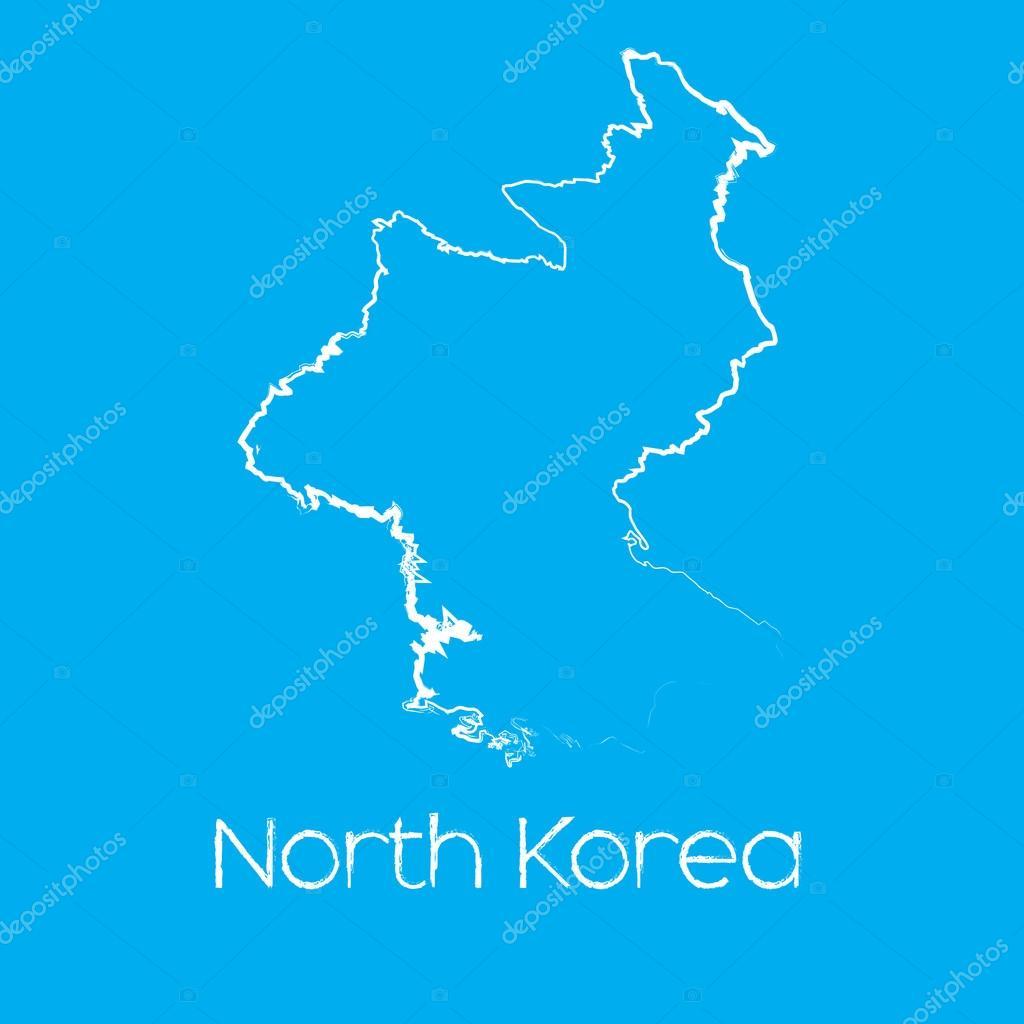 朝鲜国家的地图 — 图库矢量图像08