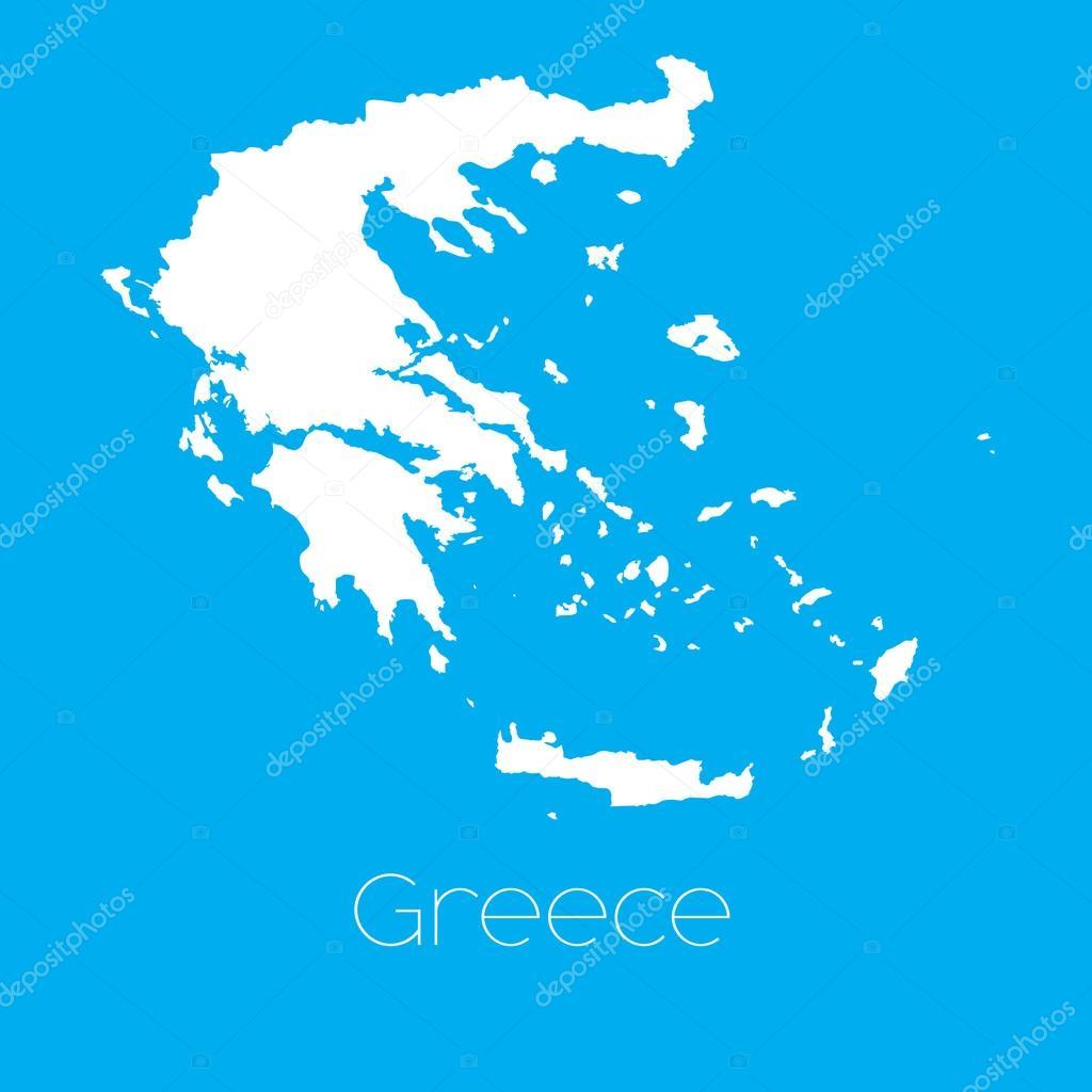 希腊国家的地图 — 图库矢量图像08