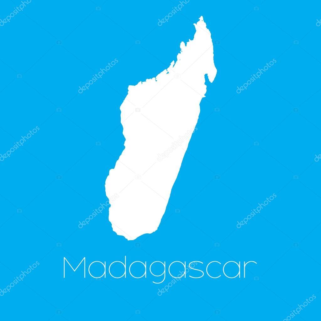 马达加斯加国家的地图