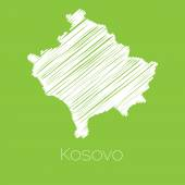 Map of the country of Kosovo — Stock Vector