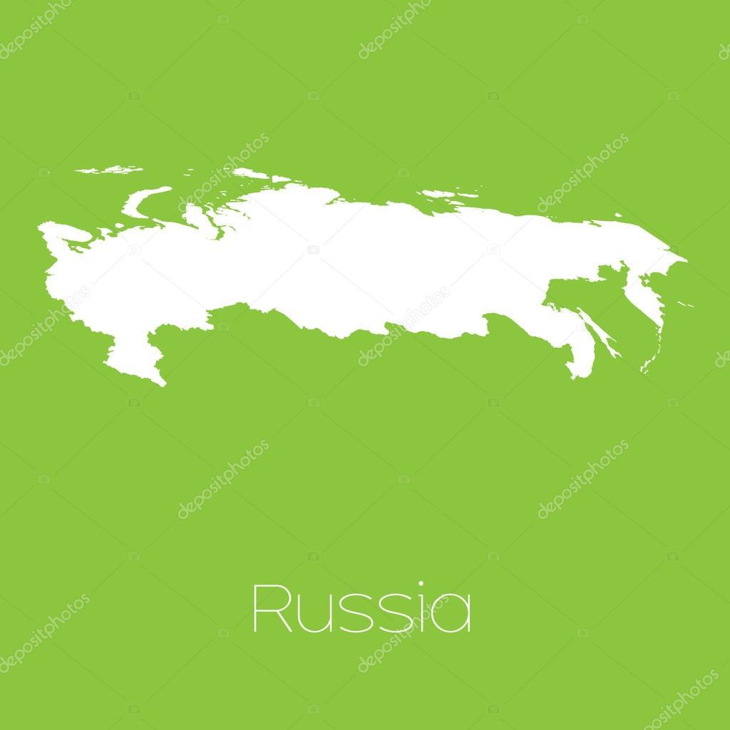俄罗斯国家的地图 — 图库矢量图像08