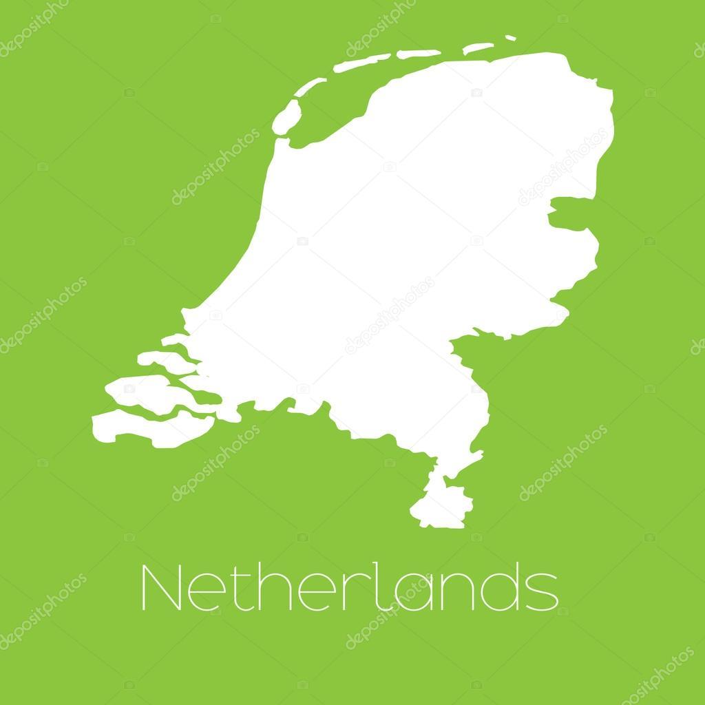 荷兰国家的地图 — 图库矢量图像08 paulstringer