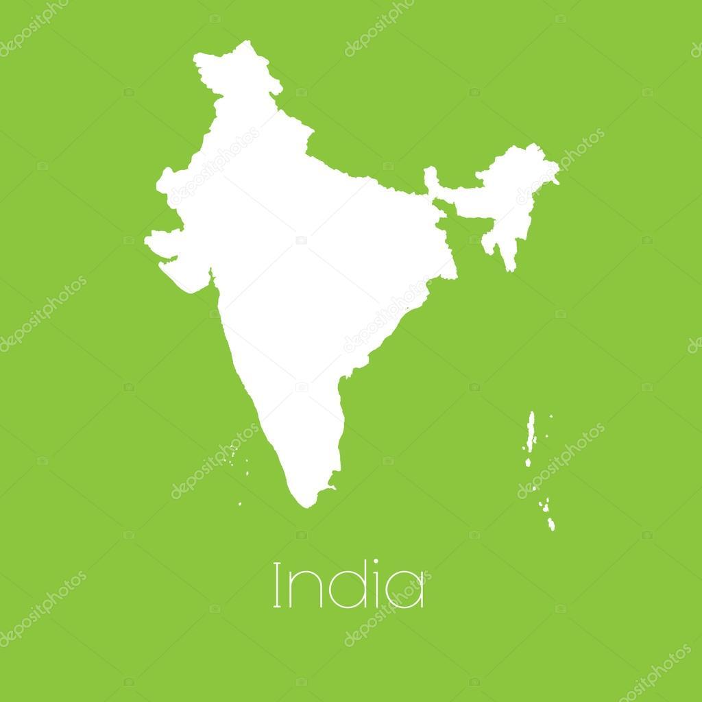 印度国家的地图