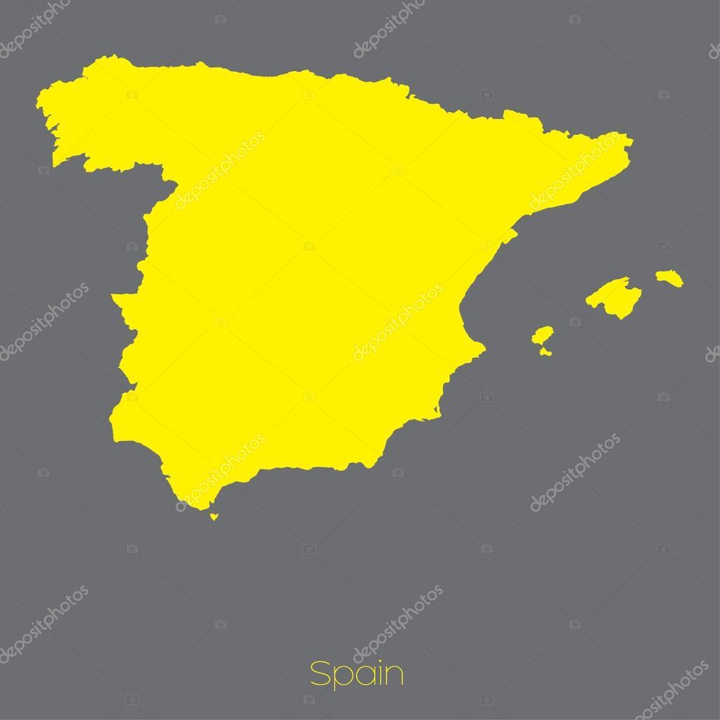 西班牙国家的地图 — 图库矢量图像08