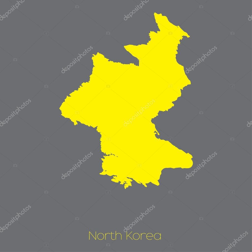 朝鲜国家的地图 — 图库矢量图像08 paulstringer