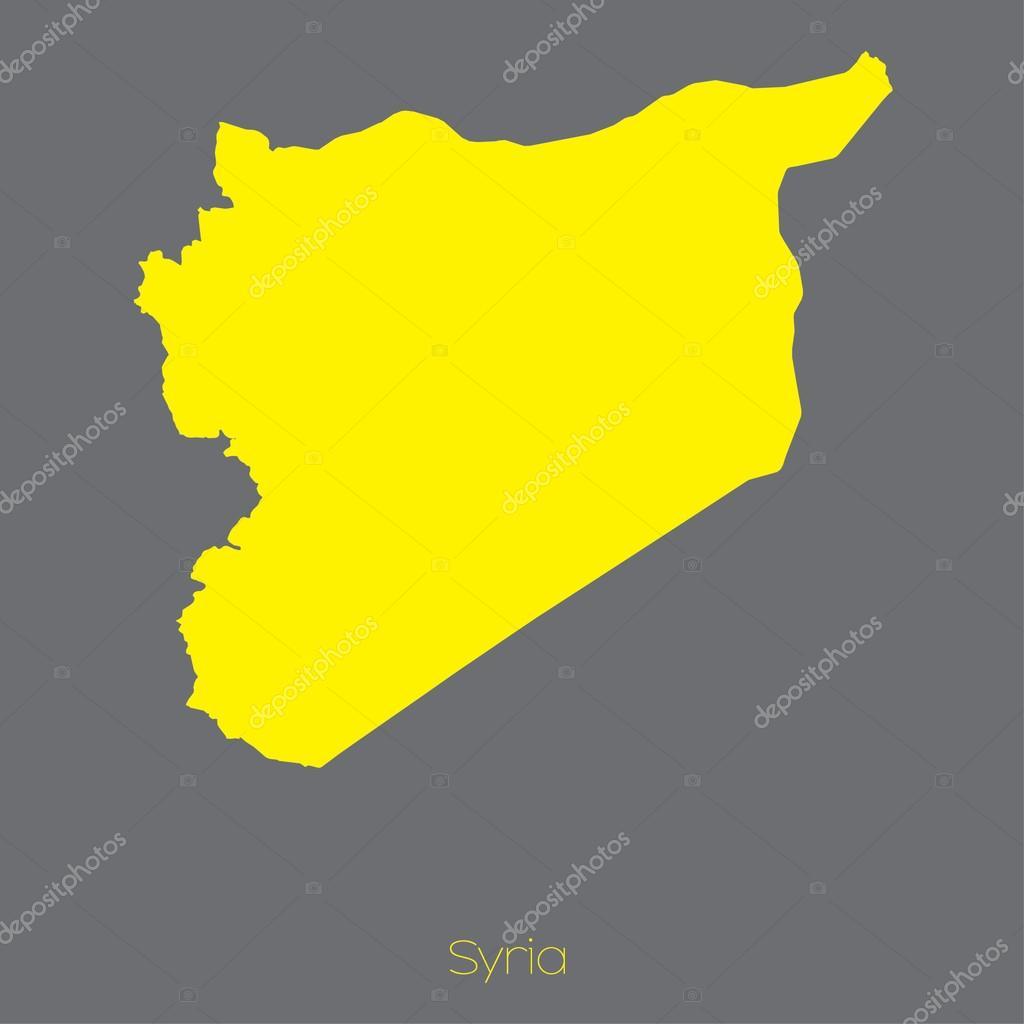 叙利亚国家的地图