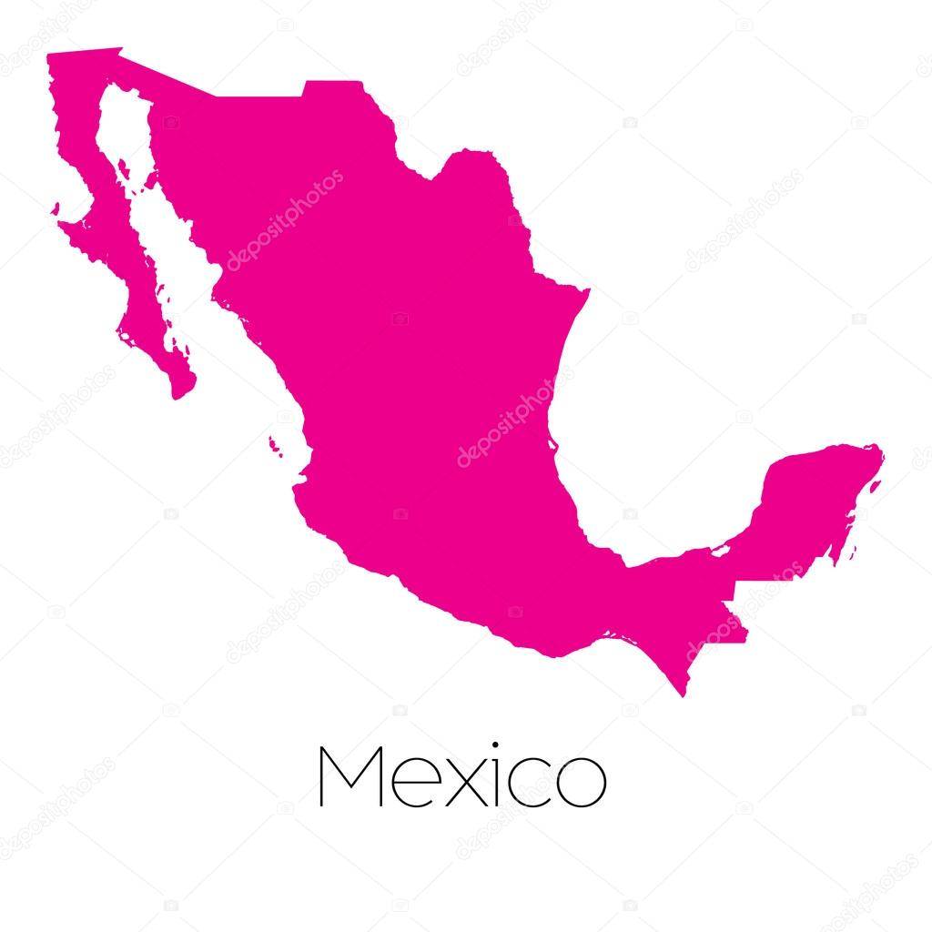 墨西哥的国家的地图