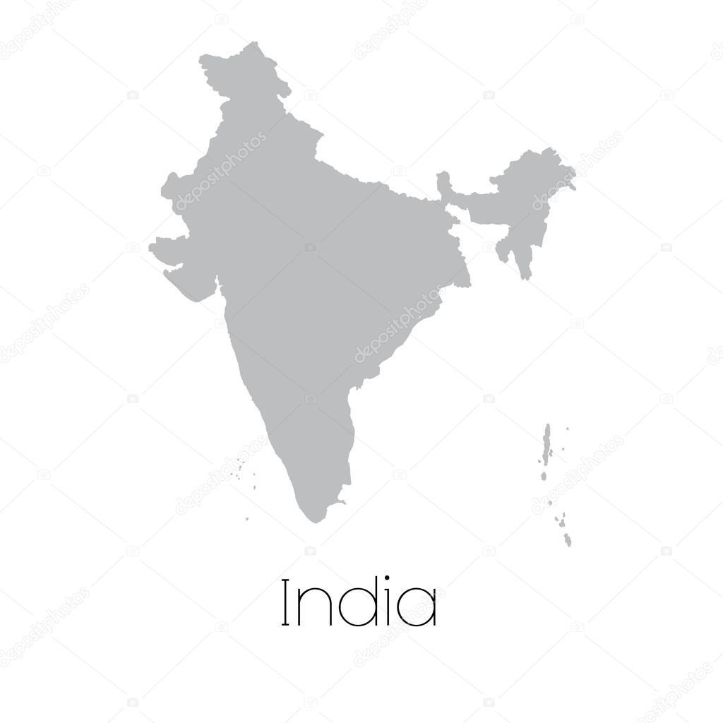 印度国家的地图 — 图库矢量图像08 paulstringer