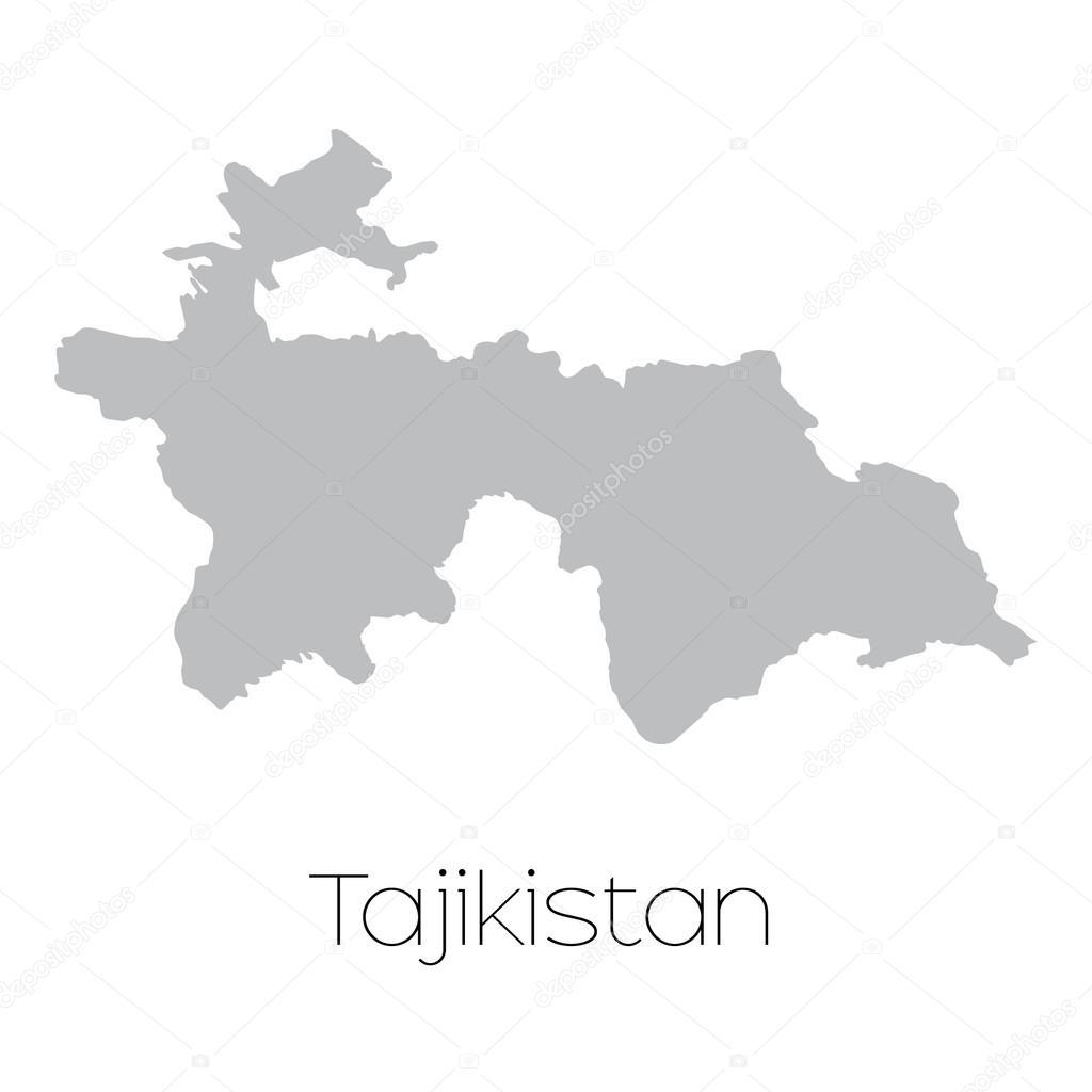 塔吉克斯坦国家的地图